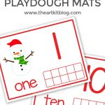 Snowman Playdough Mats {Free Printables}