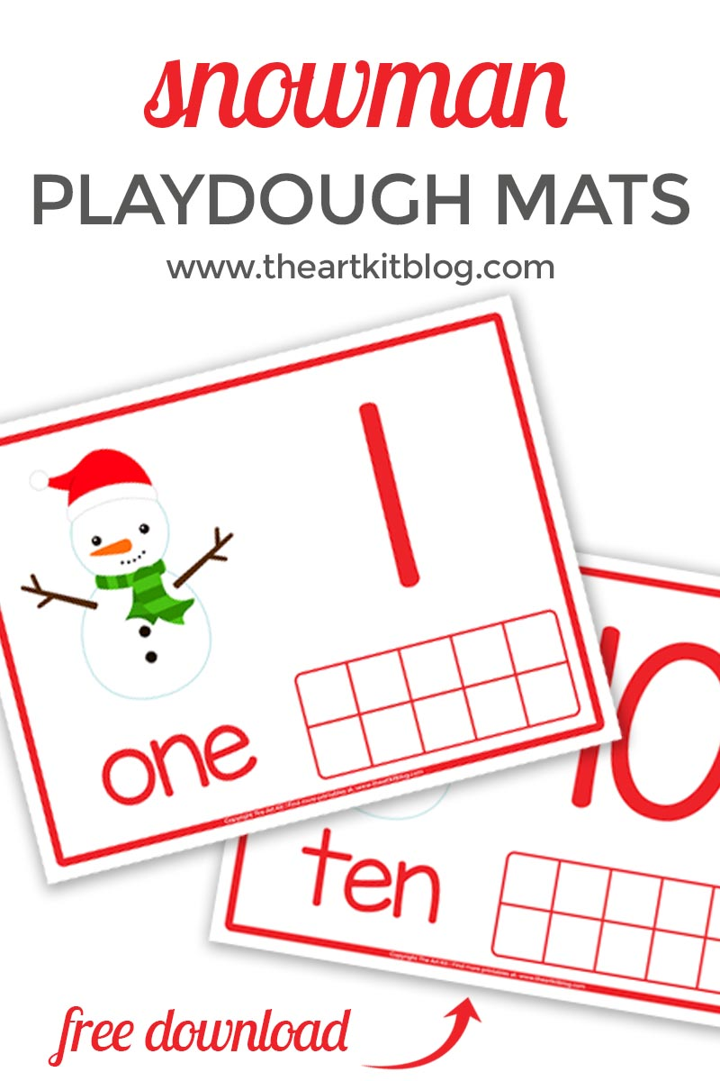 Snoman playdough mats from the art kit