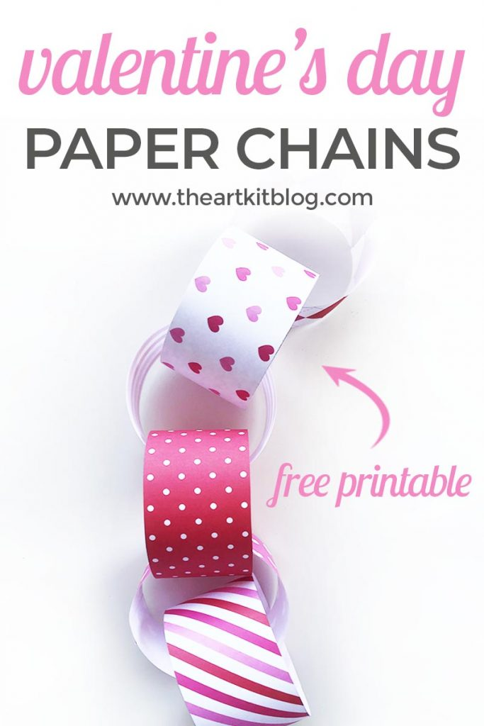 valentines day paper chain free printable