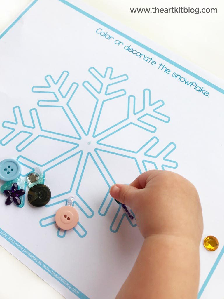 image relating to Printable Crafts for Kids named Easy Winter season Craft for Small children Free of charge Printable - The Artwork Package