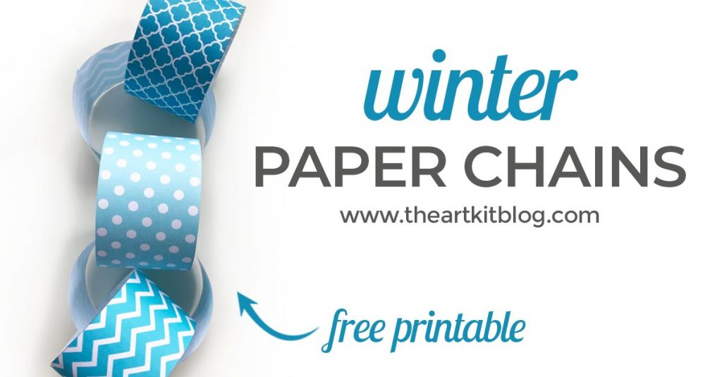 winter paper chain free printable
