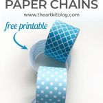 Winter Paper Chain {Free Printable}
