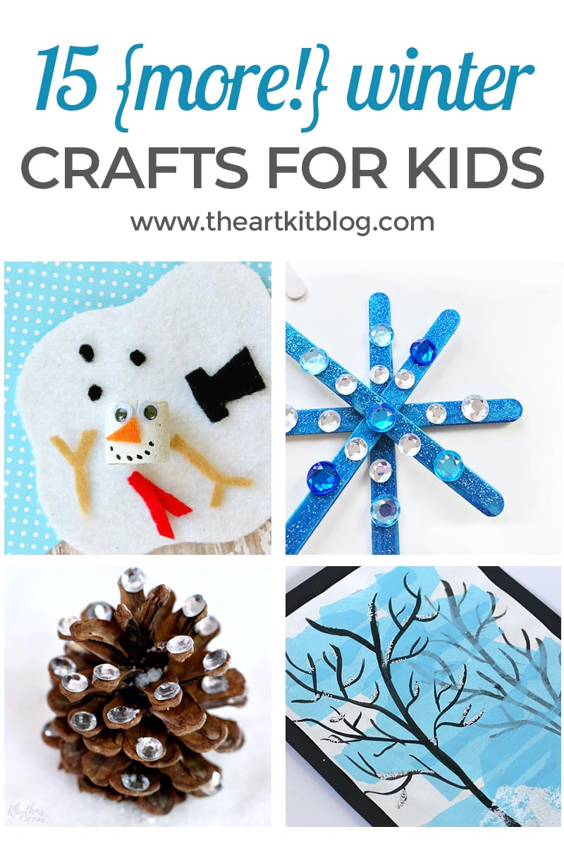15 {More!} Winter Crafts for Kids