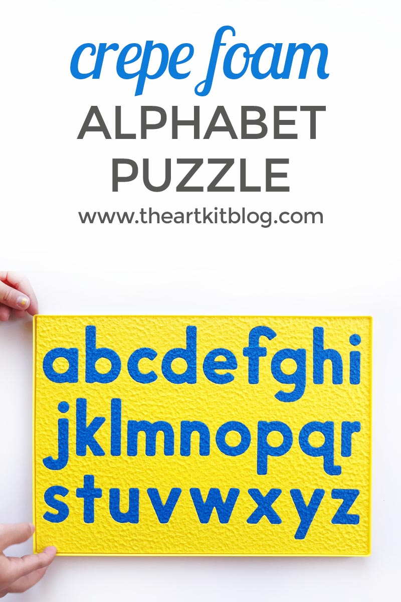 Learn the alphabet with Crepe Foam Alphabet Puzzle Lauri A to Z uppercase and lowercase letters