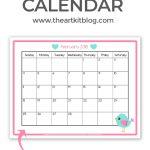 Free Printable Calendar – Great for Kids {February 2018}
