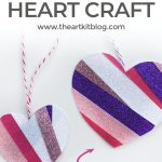 Glitter Tape Hearts {No Mess Valentine's Day Craft for Kids}