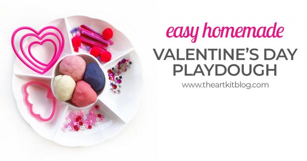 homemade valentines day playdough recipe how to make play doh kit