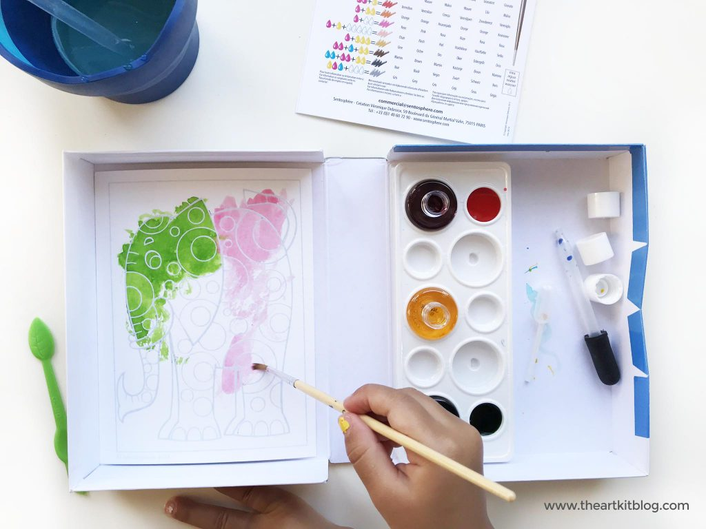 EASY WATERCOLOR for kids aquarelleum watercolor elephants art for kids painting the art kit blog PINTEREST
