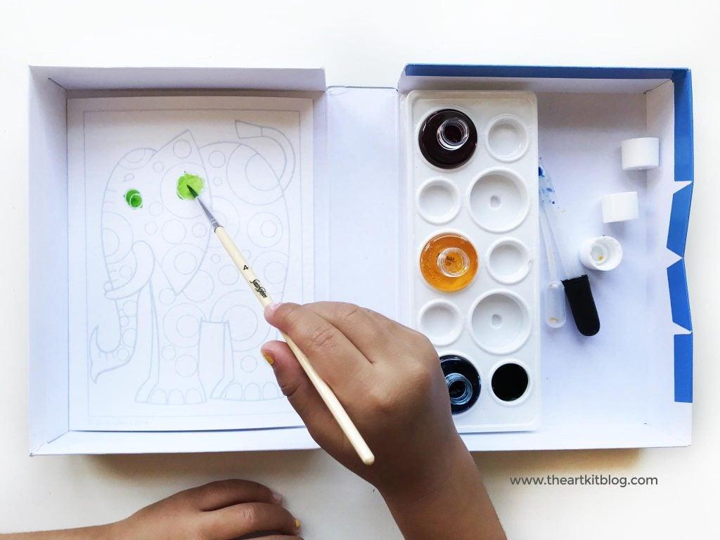 EASY WATERCOLOR for kids aquarelleum watercolor elephants art for kids painting the art kit blog PINTEREST