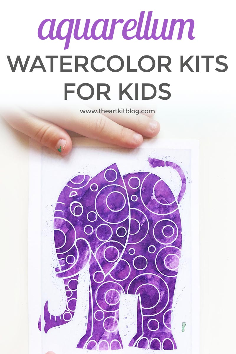 Easy Watercolor Art for Kids {With Aquarellum Watercolor Kits}