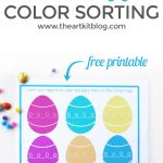 Easter Egg Color Sorting Activity Sheet {Free Printable}