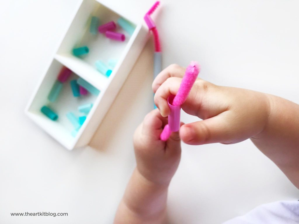 FINE MOTOR ACTIVITIES Fine motor work for preschoolers with pipe cleaners and straws PINTEREST