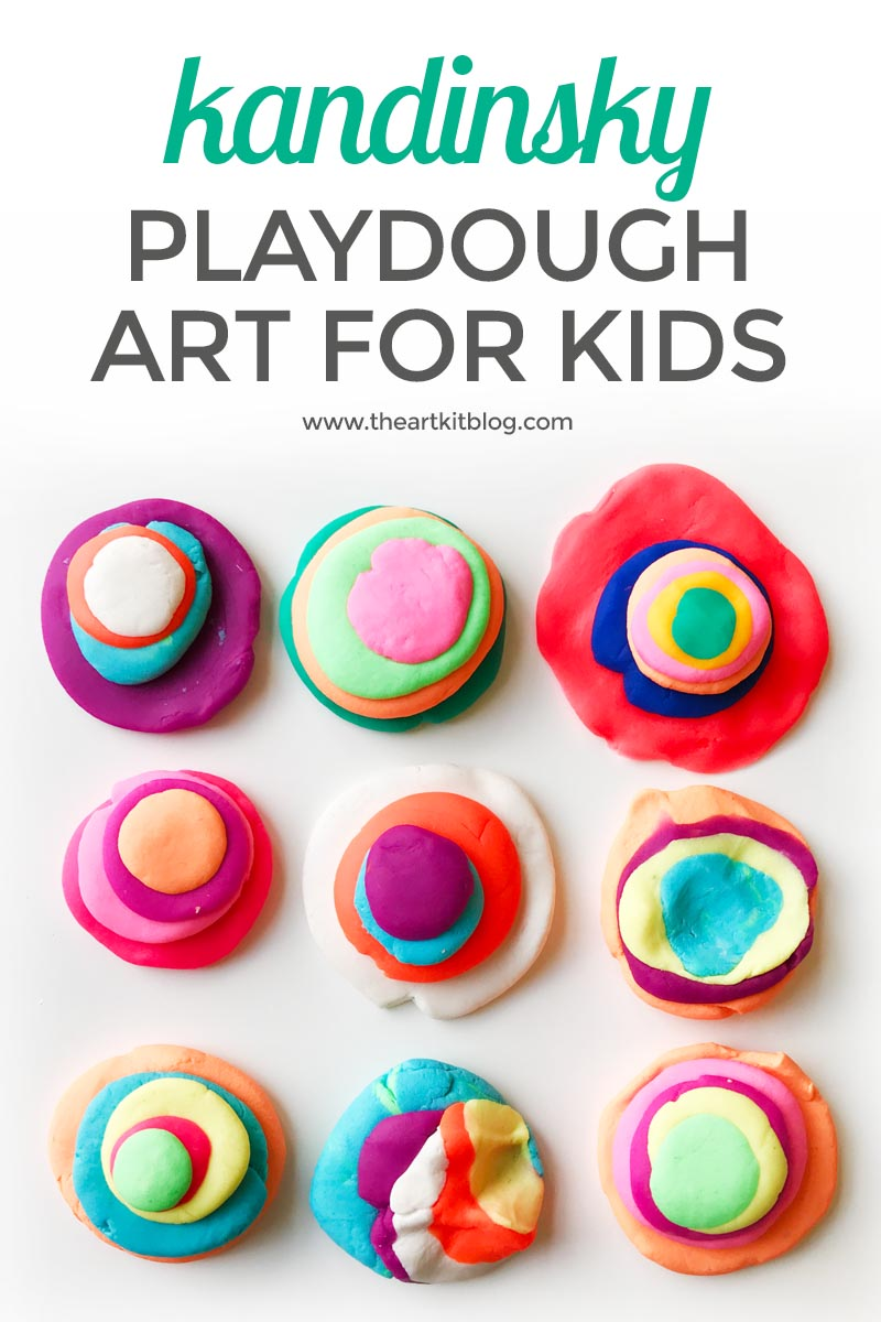 KANDINSKY FOR KIDS playdough art PINTEREST
