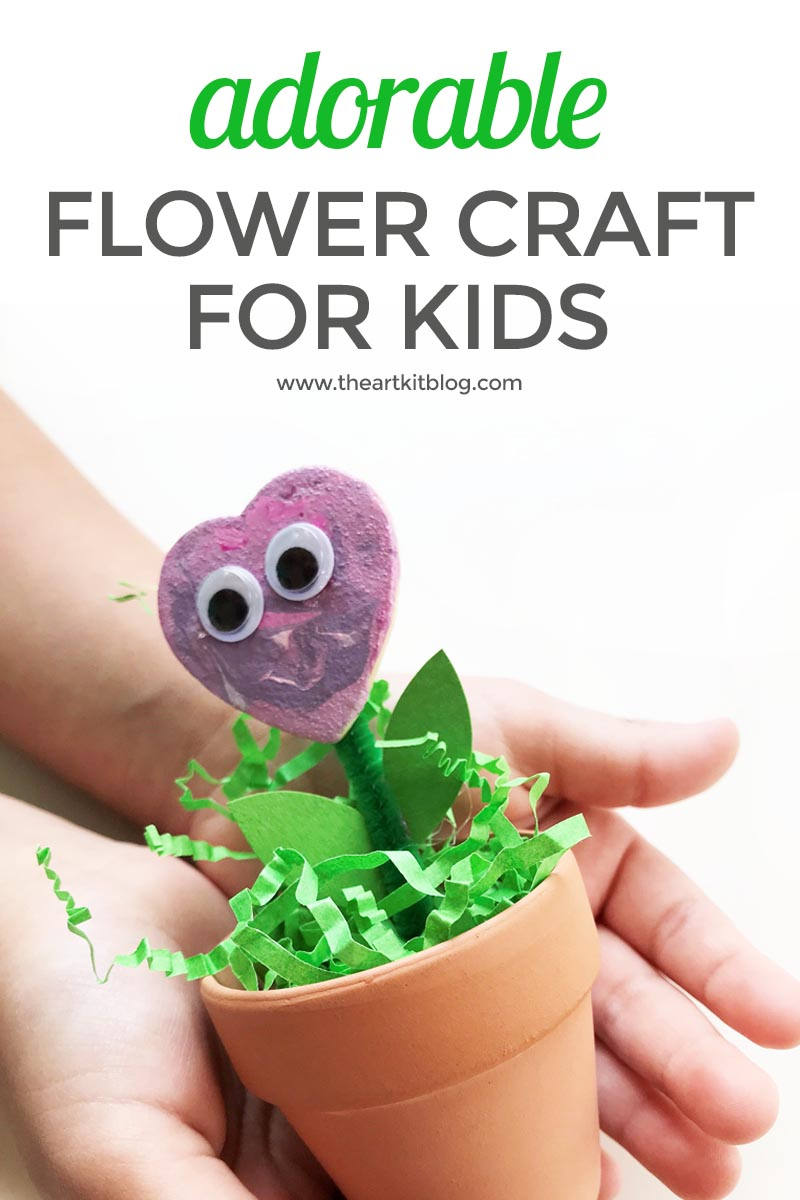 adorable FLOWER CRAFT for kids pinterest