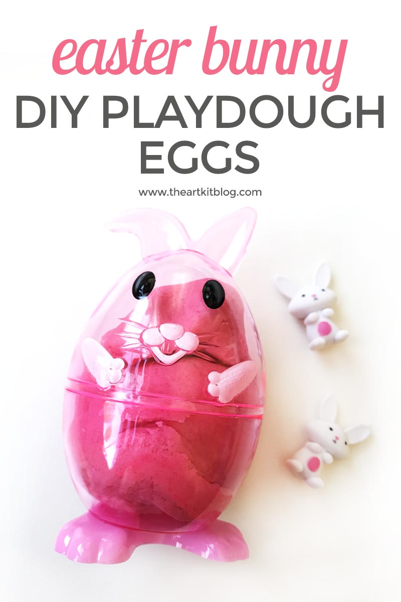 Easy DIY Easter Bunny Play Doh Eggs