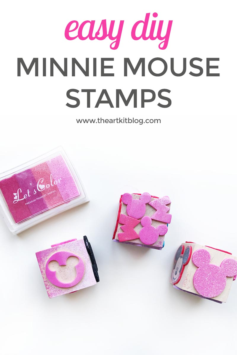 Make Your Own Minnie Mouse Stamps {Easy DIY!}