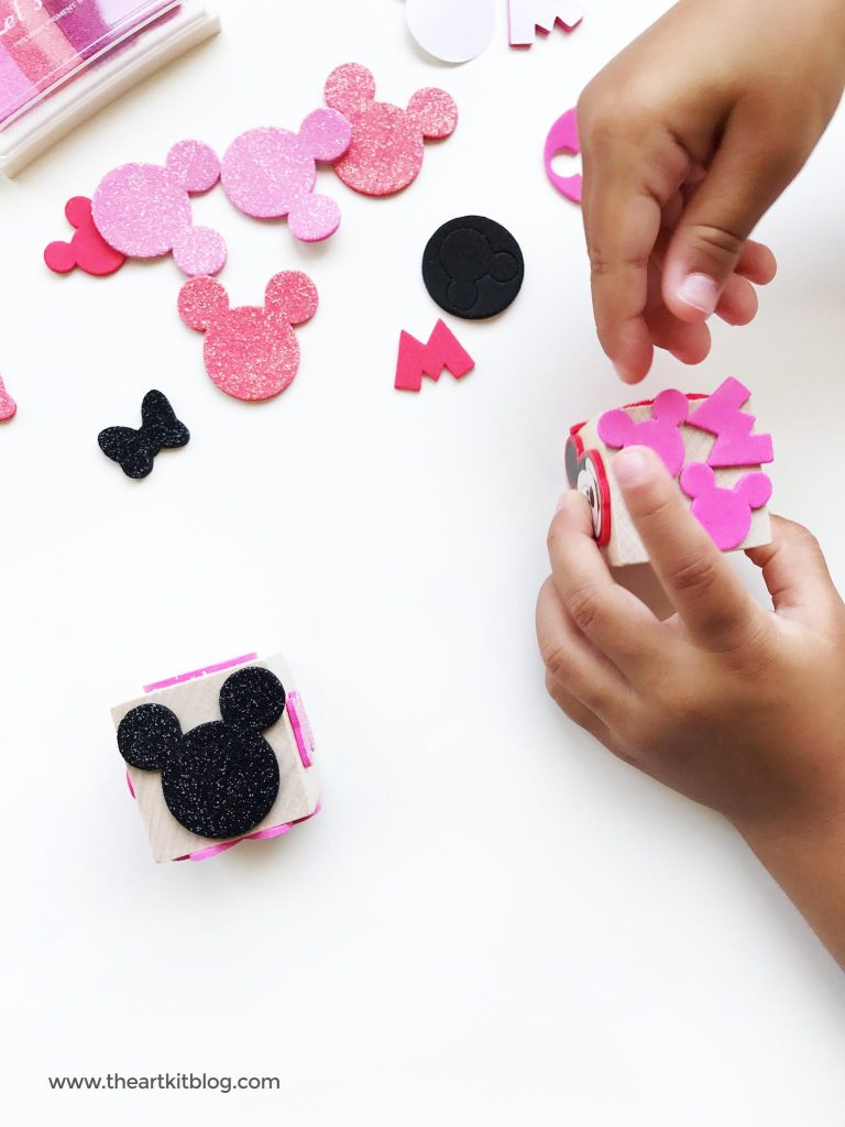 make your own stamps disney MINNIE MOUSE stamps the art kit blog foam stickers PINTEREST