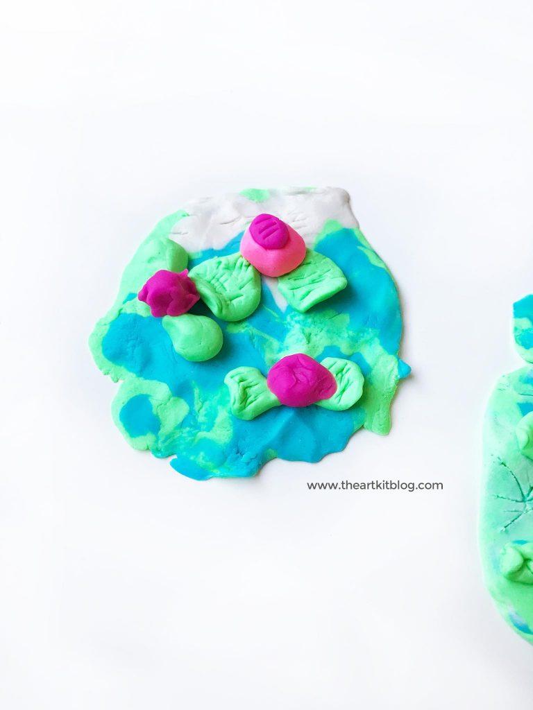monet water lilies playdough art PINTEREST