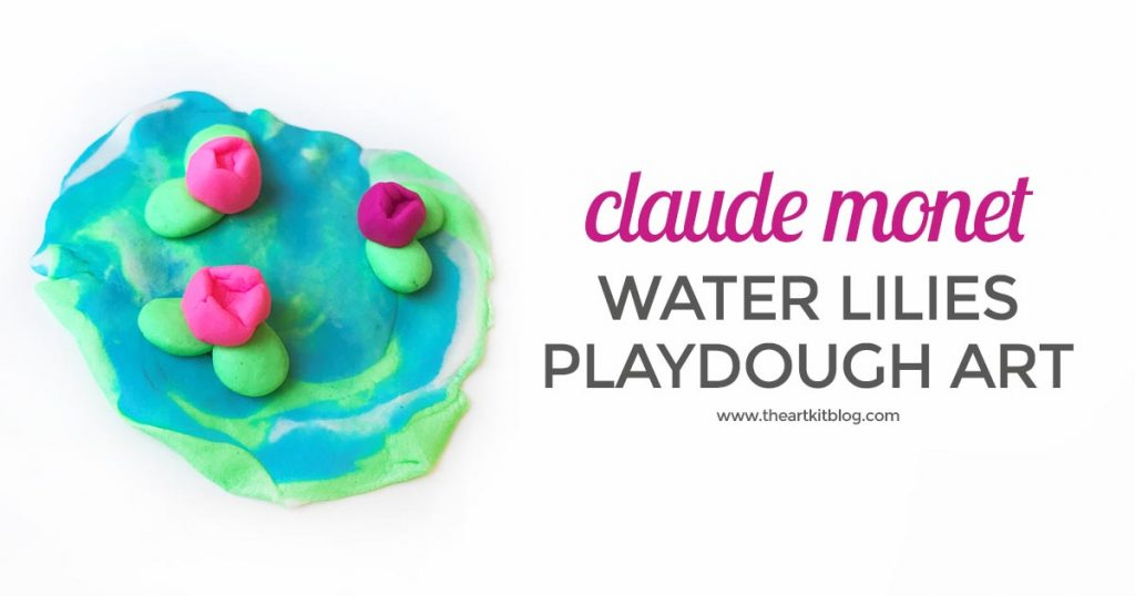 monet water lilies playdough art PINTEREST
