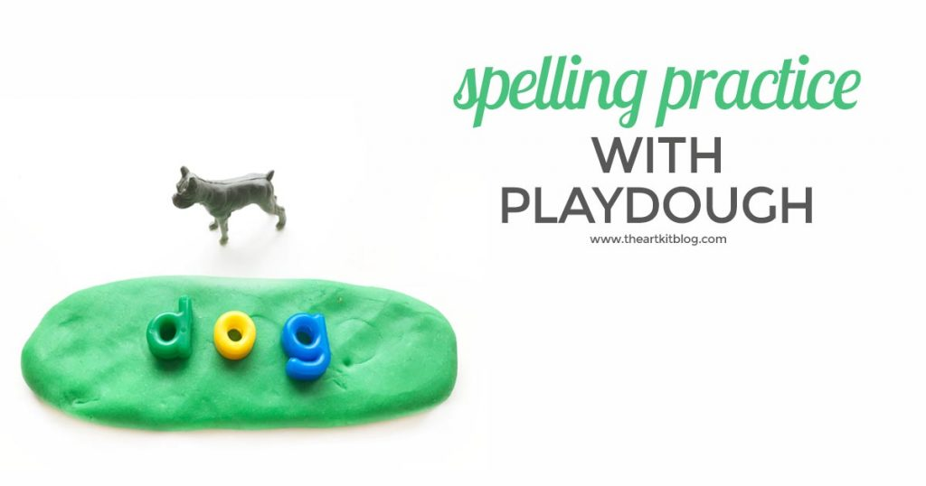 spelling-practice-with-playdough-the-art-kit-letter-practice-pinterest