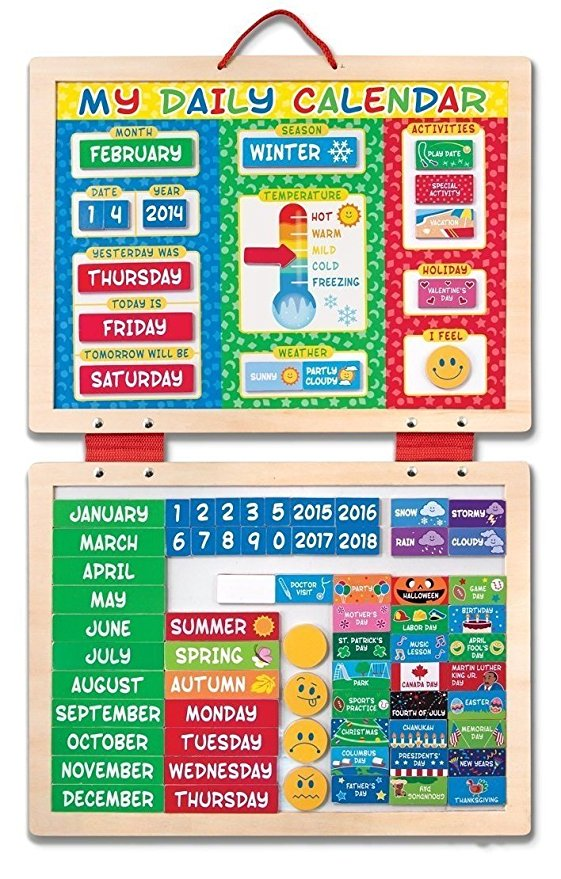 Melissa & Doug My First Daily Magnetic Calendar on sale for just $13.61