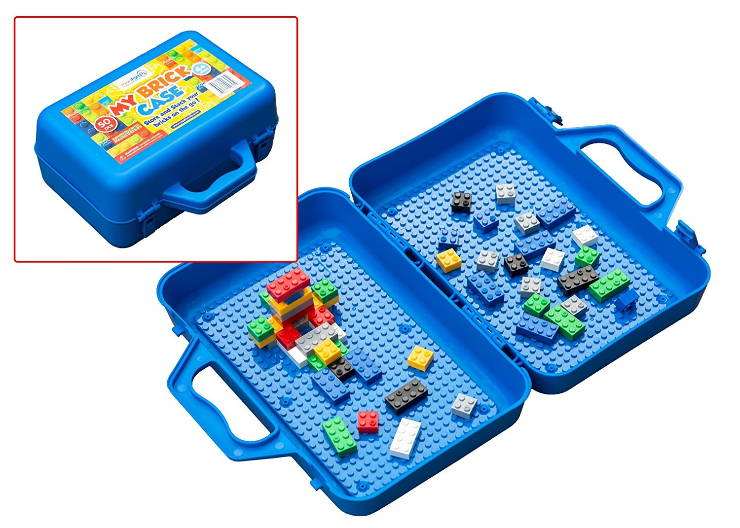 My Brick Case: Portable Storage For Kids Building Bricks With Play Surface {SALE ALERT}