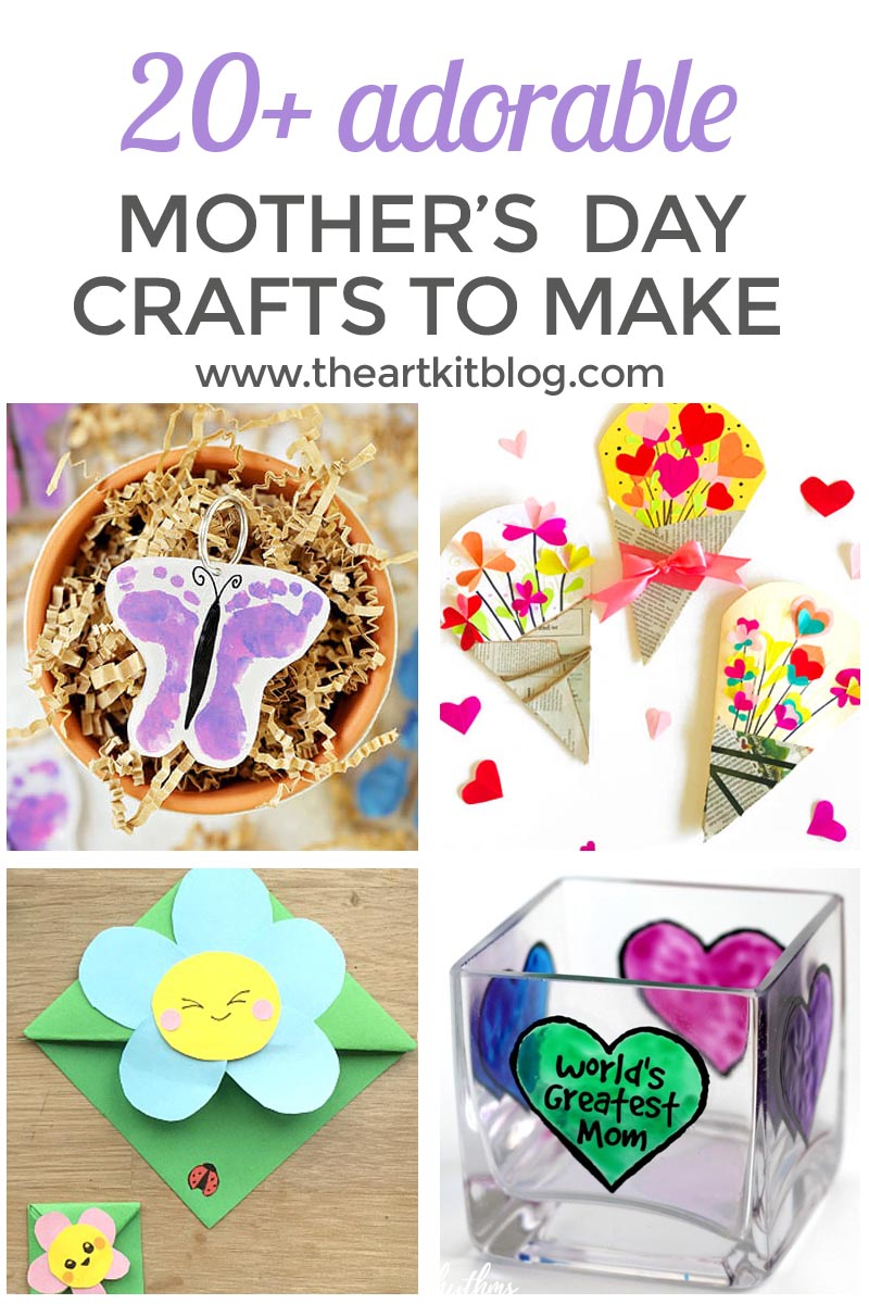20+ Adorable Mother's Day Crafts Kids Can Make