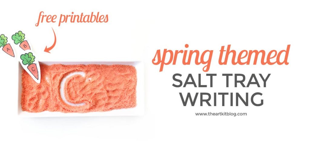 PRACTICE WRITING LETTERS the fun way in colored salt with free letter card printables 2