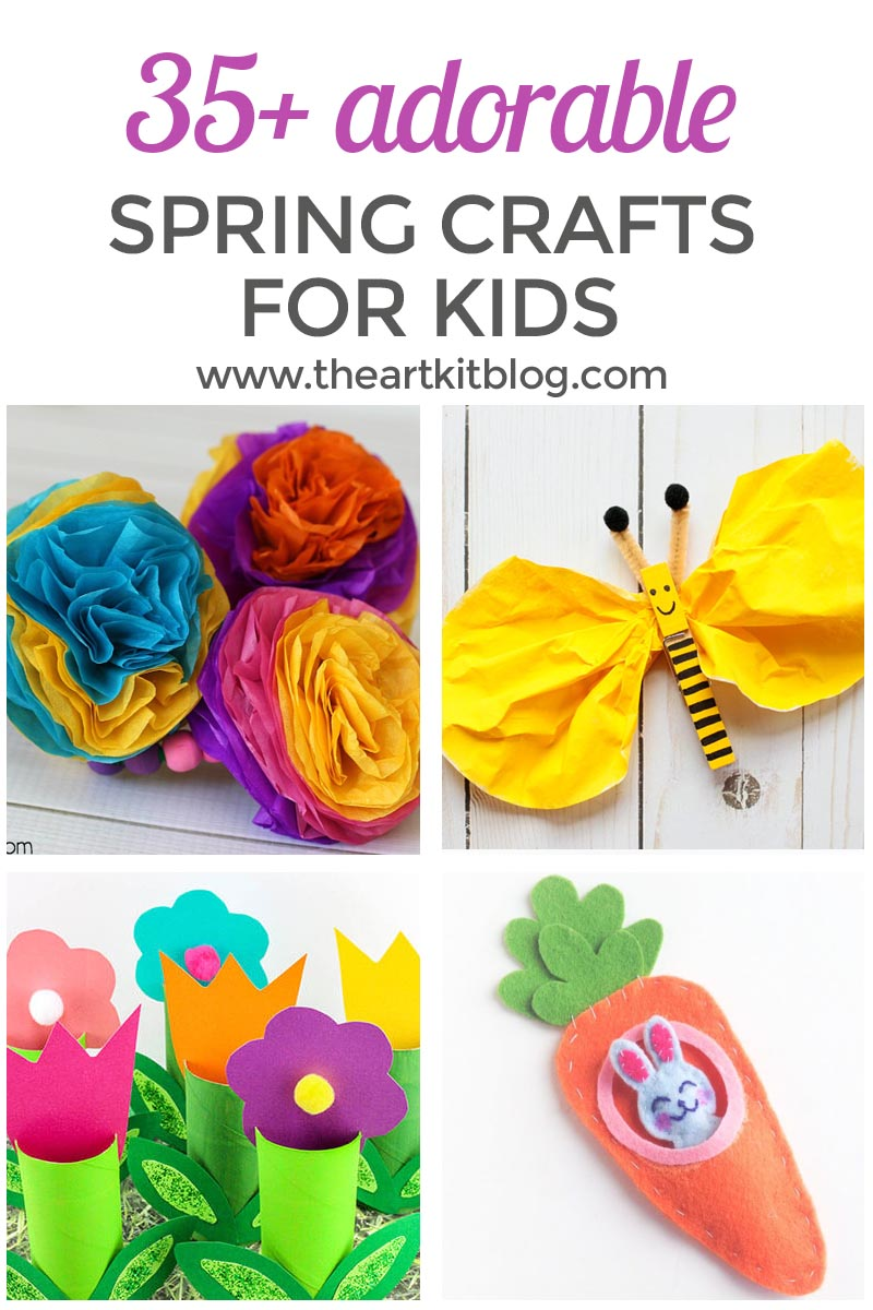 35+ Adorable Spring Crafts for Kids