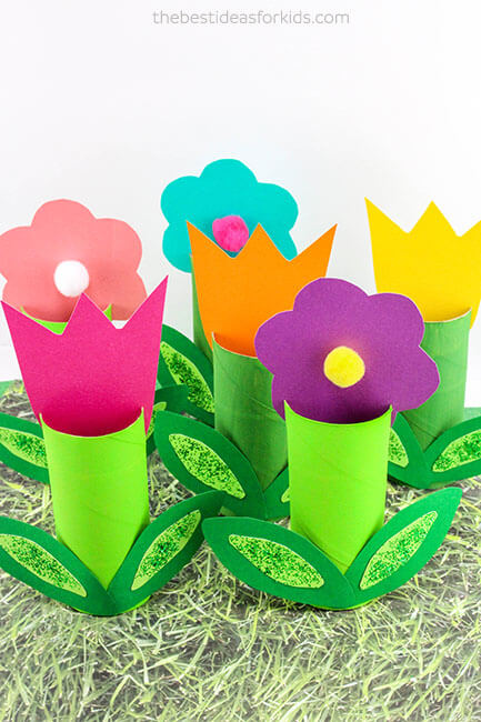Toilet paper roll kids craft flowers the art kit toilet paper roll kids craft flowers mightylinksfo