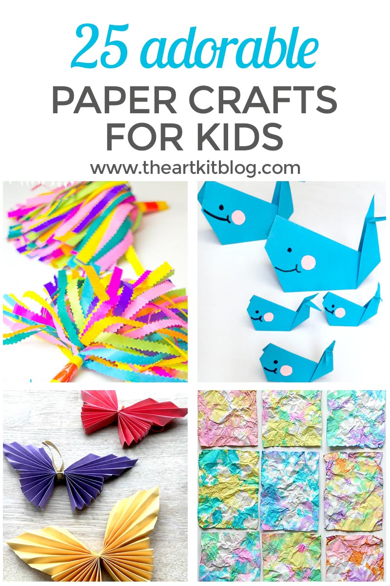 25 Adorable Paper Crafts for Kids
