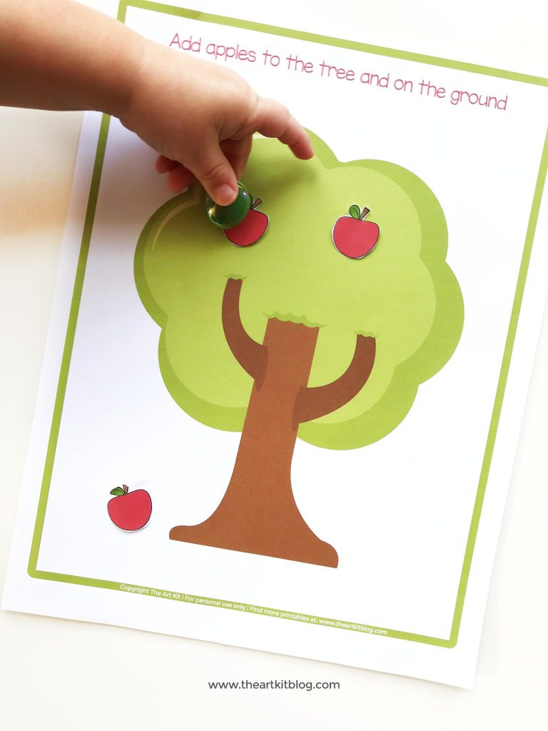 apple tree cutting and pasting craft 1