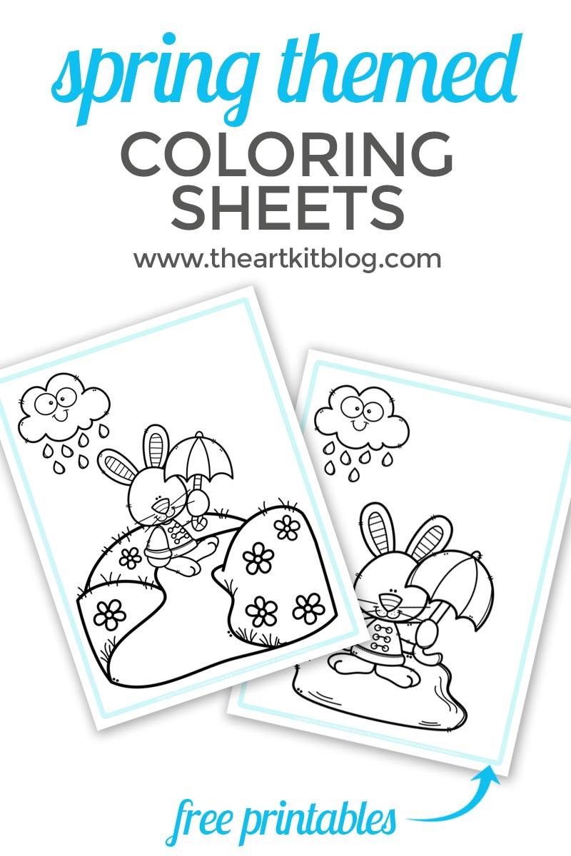 Spring Themed Coloring Pages {Free Printables}