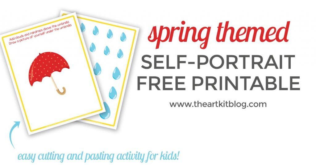 spring themed self portrait printable facebook