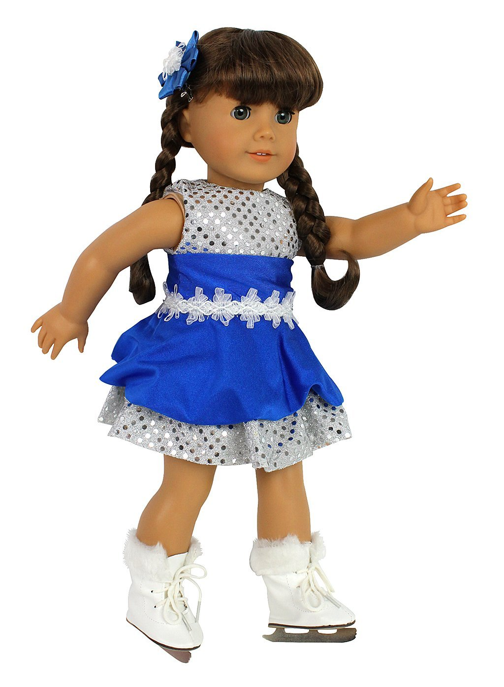 Ice Skating Doll Outfit and Skates for 18″ Dolls – SALE ALERT