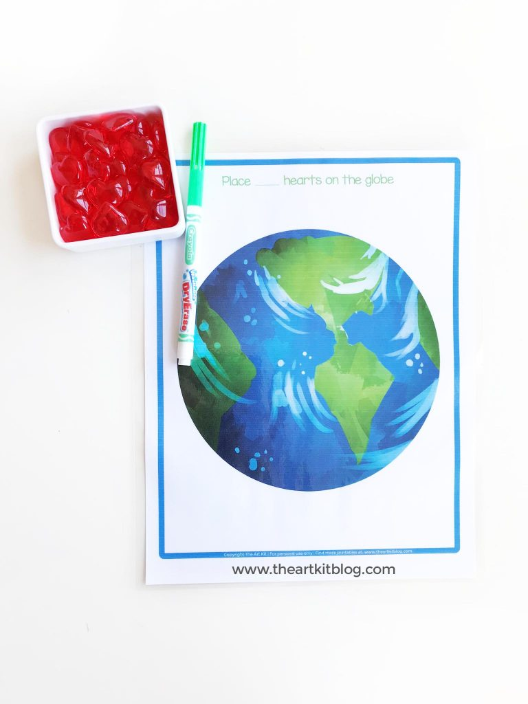 earth day number worksheet free printable math counting pinterest