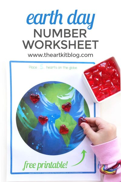Free Printable Earth Day Worksheet for Number Practice Fun