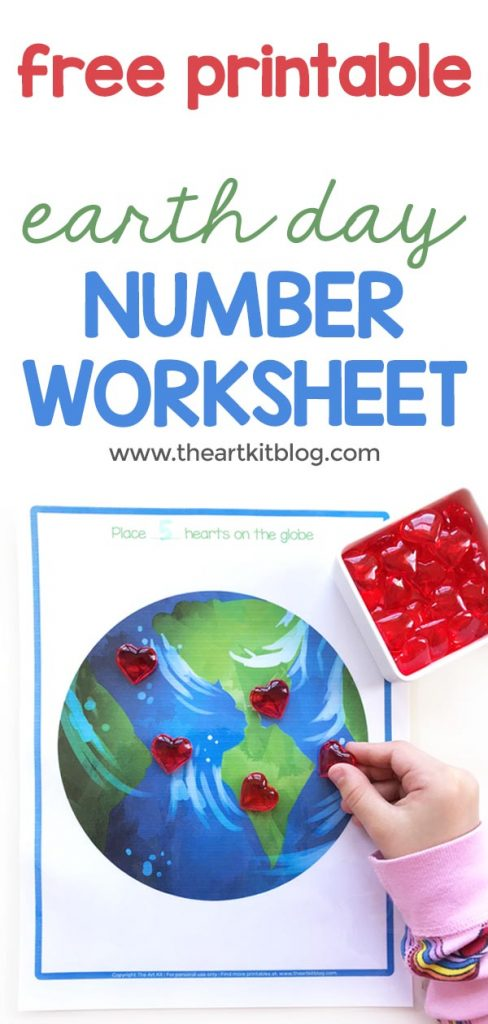 earth day number worksheet free printable math counting pinterest pin