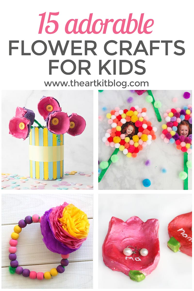 15 Adorable Flower Crafts for Kids