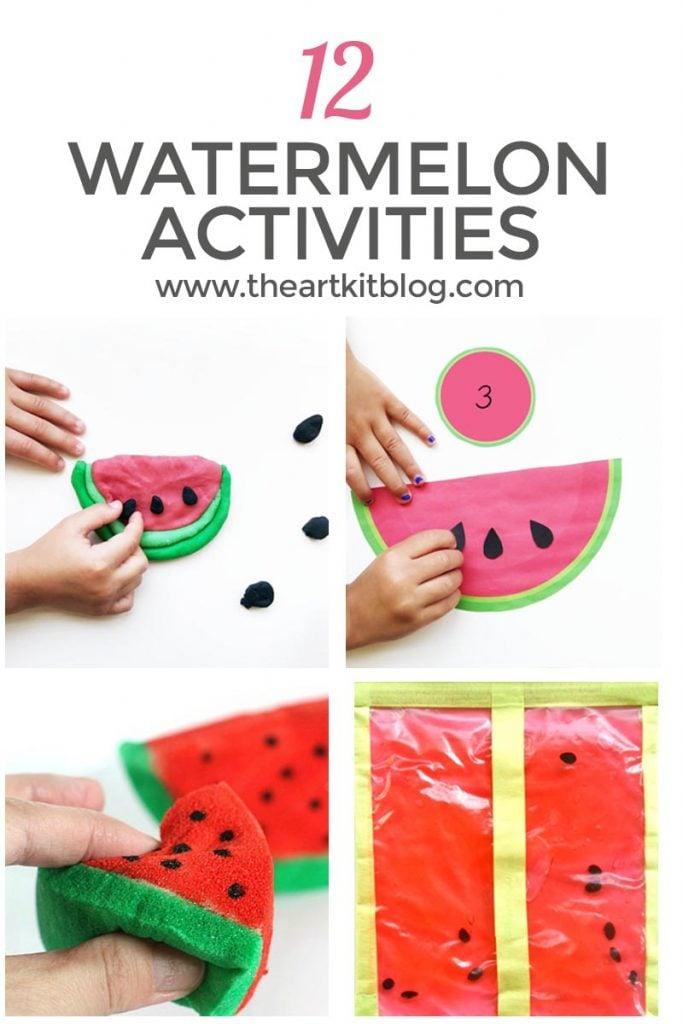 12 watermelon ACTIVITIES for kids summer pinterest