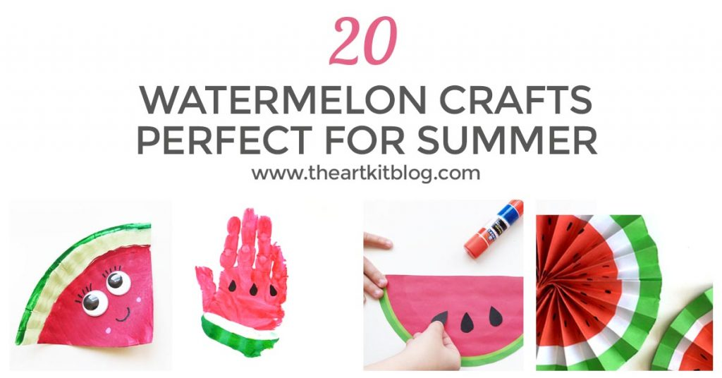 20 watermelon crafts for kids summer FACEBOOK 2