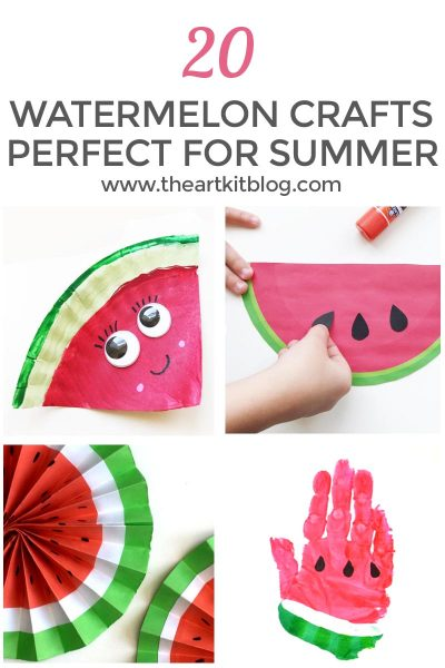 20 watermelon crafts for kids summer pinterest