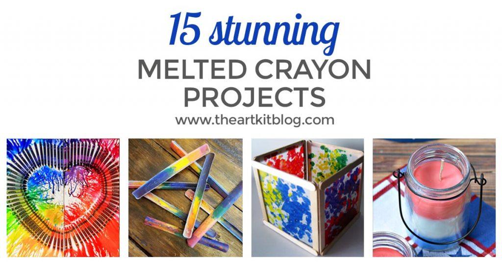 MELTED CRAYON ART pinterest