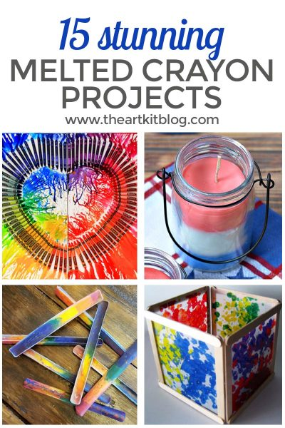 MELTED CRAYON ART pinterest