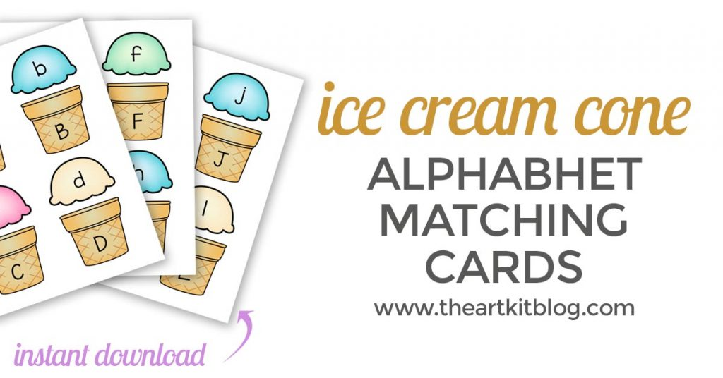 image relating to Abc Cards Printable identify Ice Product Cone Alphabet Activity Up Printable Playing cards - Instantaneous