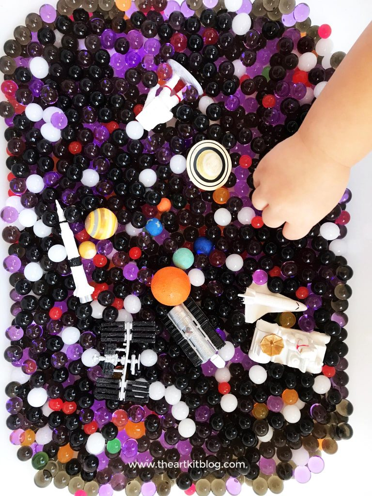 outer space scavenger hunt with water beads and toobs sensory play with water beads facebook