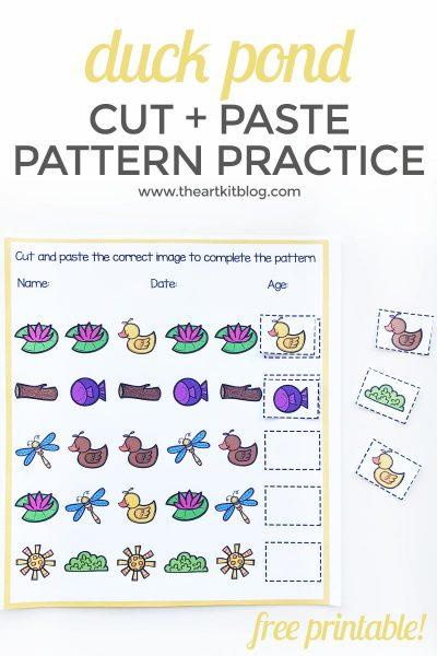 duck pond pattern worksheet free printable 1
