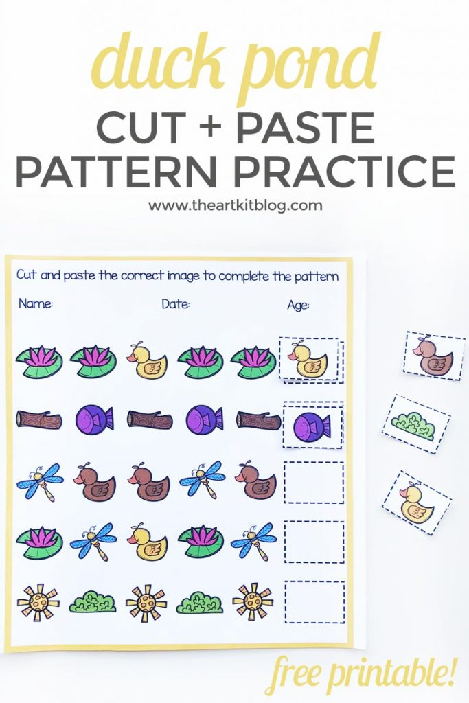 duck pond pattern worksheet free printable 1