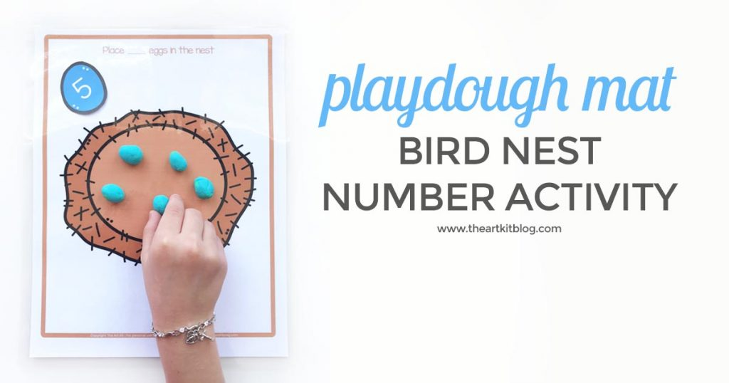 Free printable egg counting play dough mats for kids