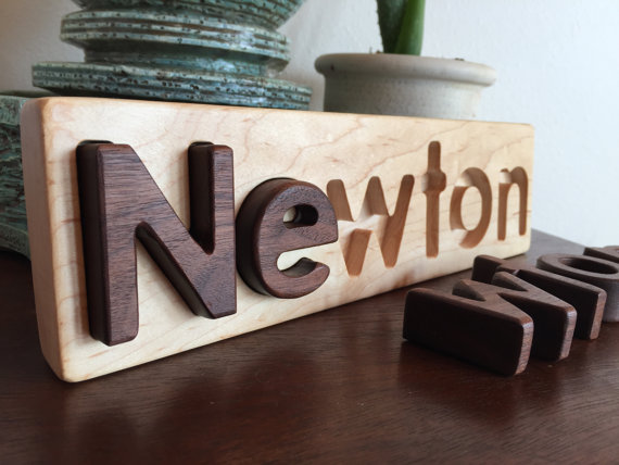 NAME RECOGNITION CUSTOM PERSONALIZED WOOD NAME PUZZLES